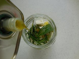 Feta in olive oil with herbs : Photo of step #9