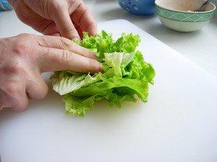 Chiffonnade de salade : Photo de l'étape 2