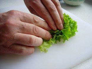 Chiffonnade de salade : Photo de l'étape 3