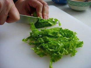 Chiffonnade de salade : Photo de l'étape 4