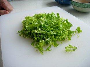 Chiffonnade de salade : Photo de l'étape 6