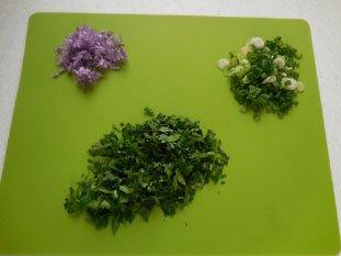 Sauce légère aux herbes : Photo de l'étape 1