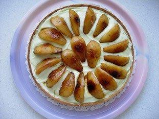 Tarte meringuée aux poires et citron vert : Photo de l'étape 10