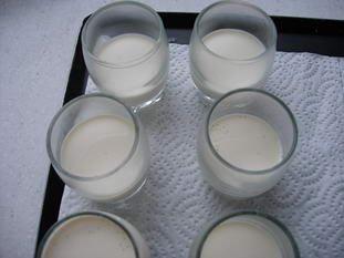Little vanilla, clementine and chestnut verrines : Photo of step #1