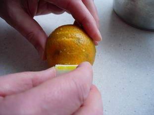 Little vanilla, clementine and chestnut verrines : Photo of step #2