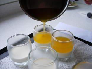 Little vanilla, clementine and chestnut verrines : Photo of step #5