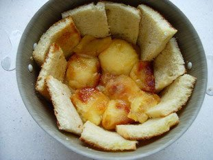 Apple charlotte with toasted brioche : Photo of step #11