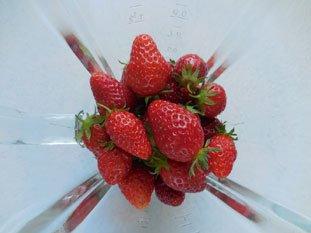 Sorbet fraise : Photo de l'étape 1