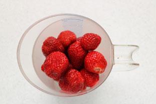 Sorbet fraises et menthe : Photo de l'étape 1