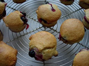 Muffins amandes-cassis