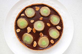Tarte poires et chocolat, note de menthe : Photo de l'étape 26