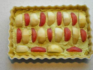 Tarte poires-pamplemousses-pistache : Photo de l'étape 7