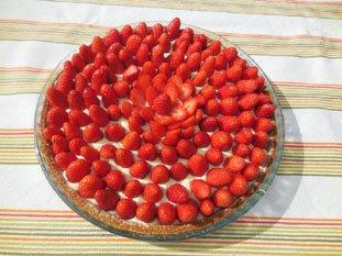 Tarte fraise et verveine : Photo de l'étape 9