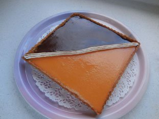 Tarte bicolore chocolat-orange : Photo de l'étape 17