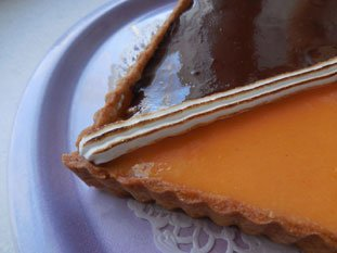 Tarte bicolore chocolat-orange : Photo de l'étape 16