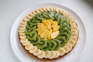 Exotic fruit tart : Photo of step #9