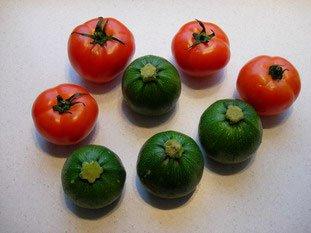 Tomates et courgettes farcies : Photo de l'étape 1