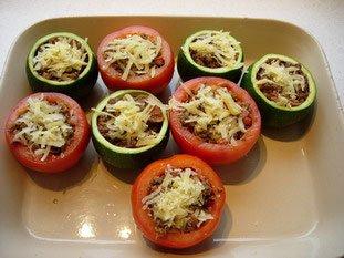 Tomates et courgettes farcies : Photo de l'étape 18