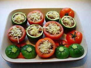 Tomates et courgettes farcies : Photo de l'étape 19