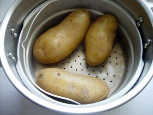 Grosses frites au couteau : Photo de l'étape 1