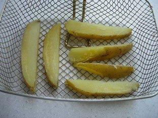 Grosses frites au couteau : Photo de l'étape 3