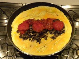 Omelette aux tomates : Photo de l'étape 12