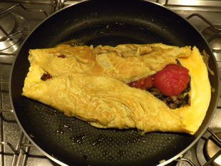 Omelette aux tomates : Photo de l'étape 13