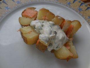 Pommes de terre au saumon fumé : Photo de l'étape 8