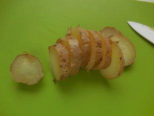Pommes de terre au saumon fumé : Photo de l'étape 1