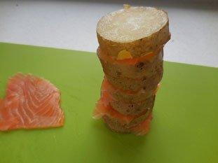 Pommes de terre au saumon fumé : Photo de l'étape 3