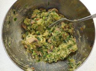 Brick pommes de terre et champignons : Photo de l'étape 6