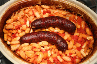 Sausages with baked beans, French style : Photo of step #6