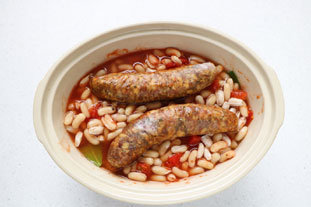Sausages with baked beans, French style : Photo of step #5