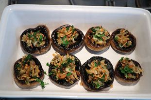 Rillettes stuffed mushrooms : Photo of step #8