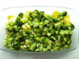 Gratin de pommes de terre et brocolis : Photo de l'étape 3