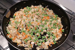 Baked Mont d'Or with diced mixed vegetables : Photo of step #3