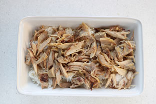 Gratin de poulet au riz et champignons sautés : Photo de l'étape 5