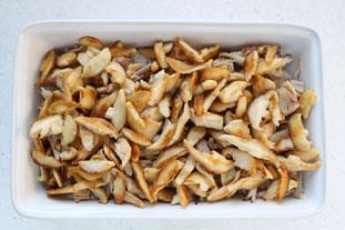 Gratin de poulet au riz et champignons sautés : Photo de l'étape 6