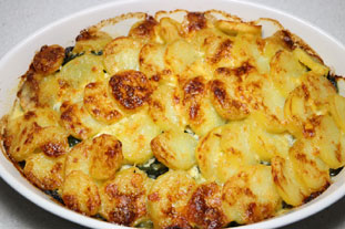Creamy spinach and potato gratin : Photo of step #8