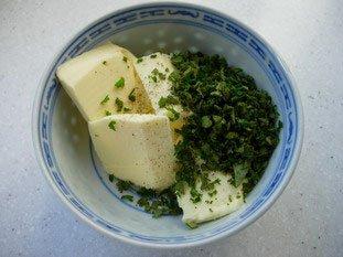 Pommes de terre au four, beurre ou crème aux herbes : Photo de l'étape 2