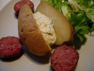 Pommes de terre au four, beurre ou crème aux herbes : Photo de l'étape 9