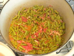 Haricots verts � la tomate : Photo de l'�tape 9