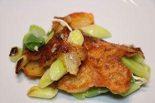 Galette croustillante poireaux-pommes de terre : Photo de l'étape 8