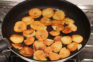 Galette croustillante poireaux-pommes de terre : Photo de l'étape 4