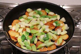 Galette croustillante poireaux-pommes de terre : Photo de l'étape 5