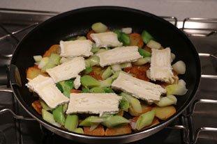 Galette croustillante poireaux-pommes de terre : Photo de l'étape 6