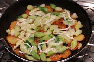 Galette croustillante poireaux-pommes de terre : Photo de l'étape 7