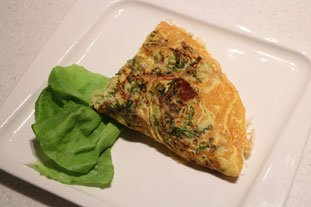 Omelette choux et lard : Photo de l'étape 26