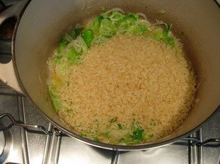 Creamy risotto with vegetables  : Photo of step #14