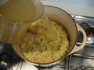 Creamy risotto with vegetables  : Photo of step #18
